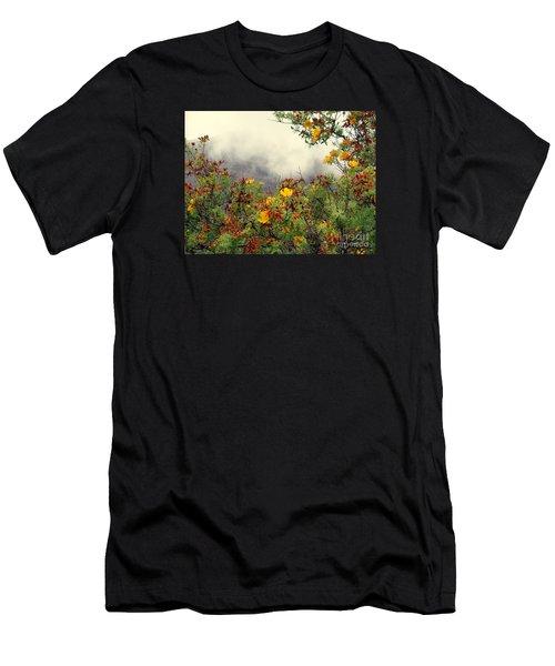 Volcano Scene Reunion Island Men's T-Shirt (Athletic Fit)