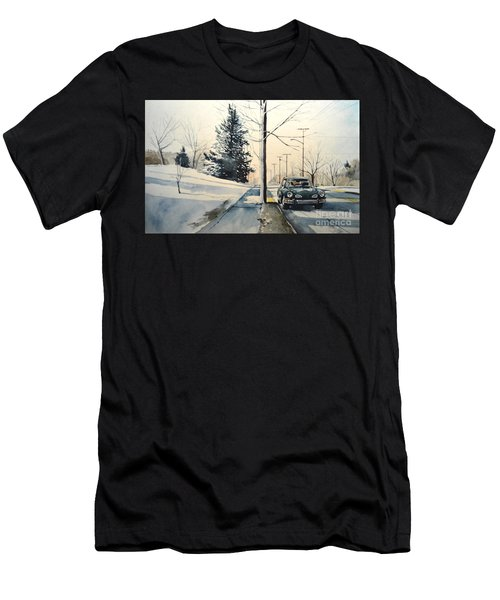 Volkswagen Karmann Ghia On Snowy Road Men's T-Shirt (Athletic Fit)