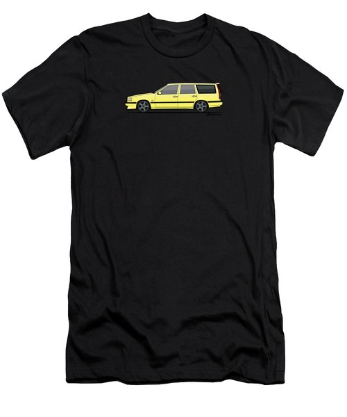 Volvo 850r 855r T5-r Swedish Turbo Wagon Cream Yellow Men's T-Shirt (Athletic Fit)