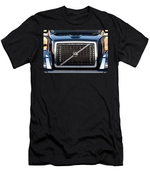 Volvo Blk And Silver Men's T-Shirt (Athletic Fit)