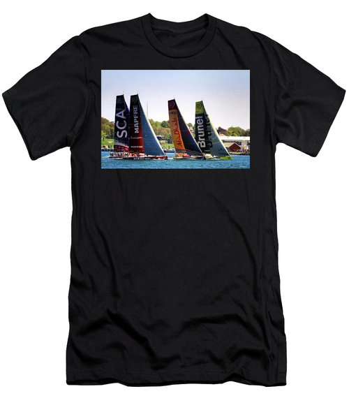Volvo Ocean Race Newport Ri Men's T-Shirt (Athletic Fit)