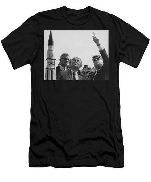 Von Braun And Jfk Looking Towards The Sky Men's T-Shirt (Athletic Fit)