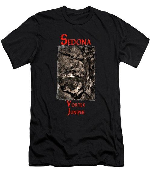 Vortex Juniper Clinging To A High Perch Men's T-Shirt (Athletic Fit)