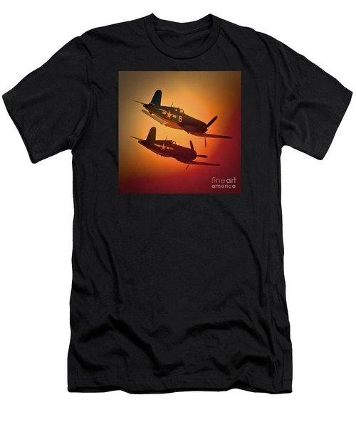 Vought F4u Corsair Sunset Two Ship Men's T-Shirt (Athletic Fit)