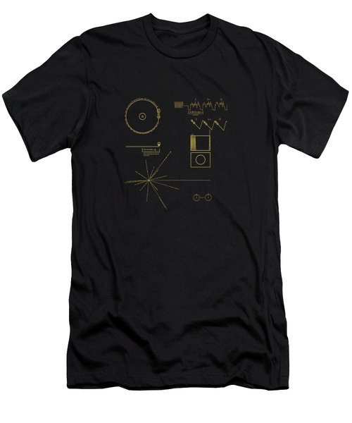 Voyager Golden Record Cover Men's T-Shirt (Athletic Fit)