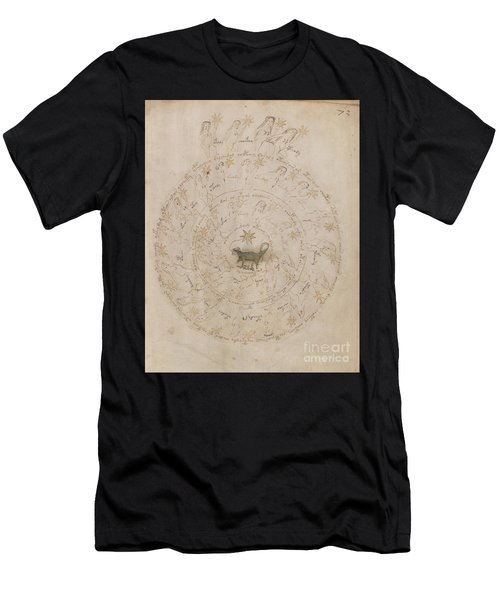 Voynich Manuscript Astro Scorpio Men's T-Shirt (Athletic Fit)