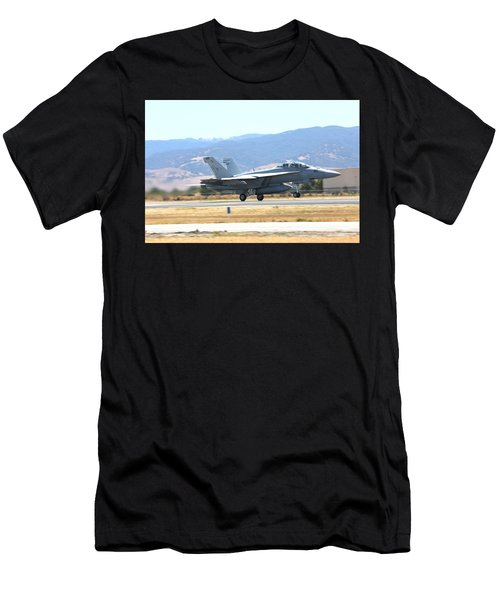 Vr  Mcdonnell Douglas-f/a18 Hornet Departs Hollister Air Show Men's T-Shirt (Athletic Fit)