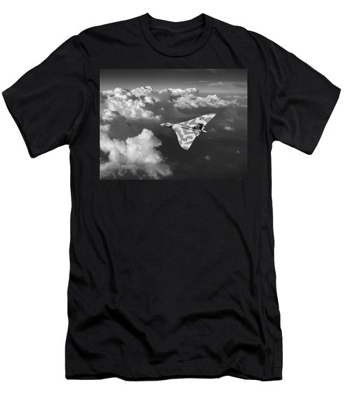 Vulcan Catching The Light Black And White Men's T-Shirt (Athletic Fit)