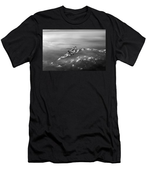 Vulcan Over The Channel Black And White Version Men's T-Shirt (Athletic Fit)