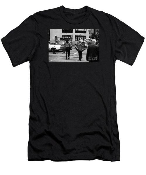 W 34th Men's T-Shirt (Slim Fit) by Steven Macanka