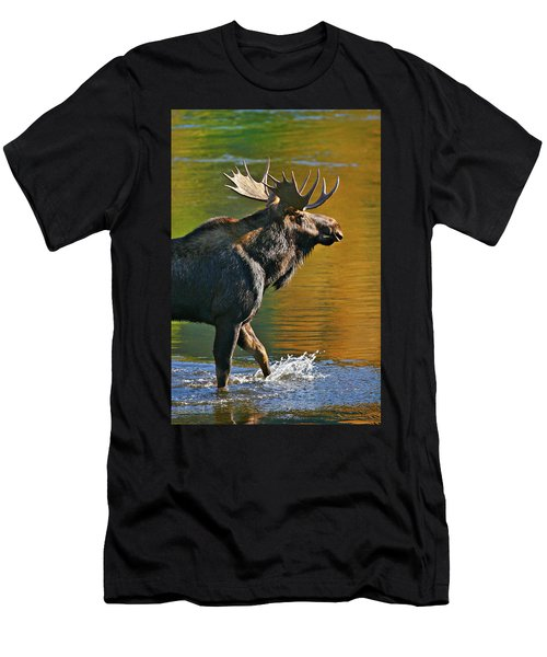 Wading Moose Men's T-Shirt (Athletic Fit)