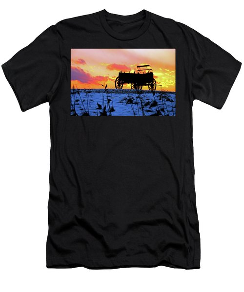 Wagon Hill At Sunset Men's T-Shirt (Athletic Fit)