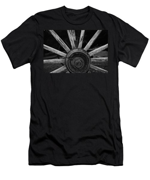 Men's T-Shirt (Slim Fit) featuring the photograph Wagon Wheel by Eric Liller