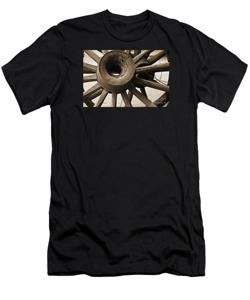 Wagon Wheel Hub Men's T-Shirt (Slim Fit) by Kirt Tisdale