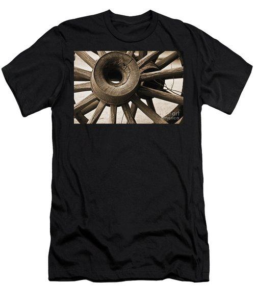 Wagon Wheel Hub Men's T-Shirt (Athletic Fit)