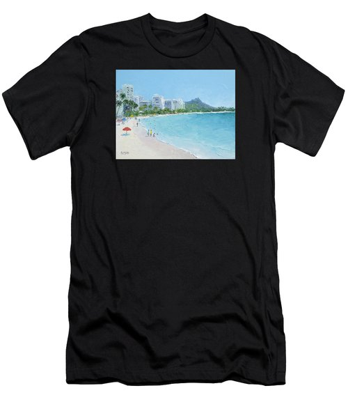Waikiki Beach Honolulu Hawaii Men's T-Shirt (Athletic Fit)