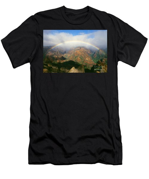 Waimea Canyon, Full Rainbow Men's T-Shirt (Athletic Fit)