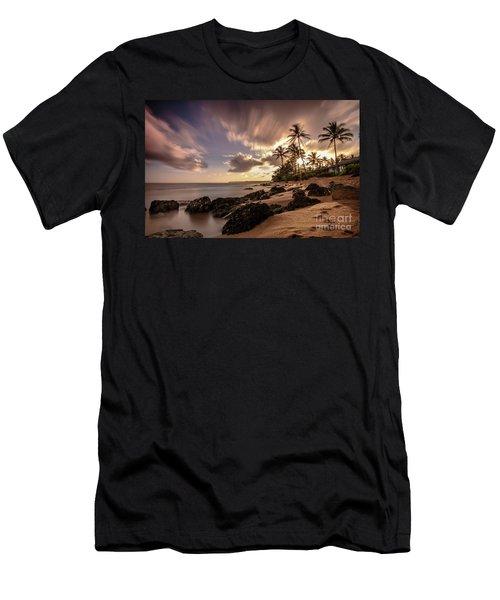 Wainiha Kauai Hawaii Sunrise  Men's T-Shirt (Athletic Fit)