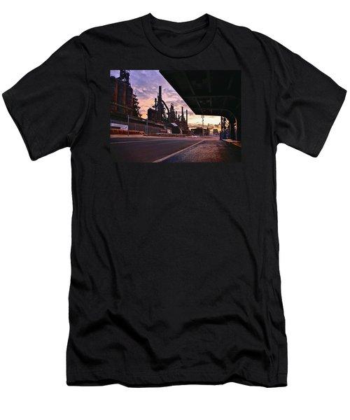 Men's T-Shirt (Slim Fit) featuring the photograph Waitin' On The Bus by DJ Florek
