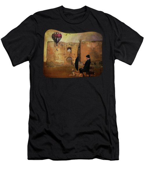 Waiting At The Station Men's T-Shirt (Athletic Fit)