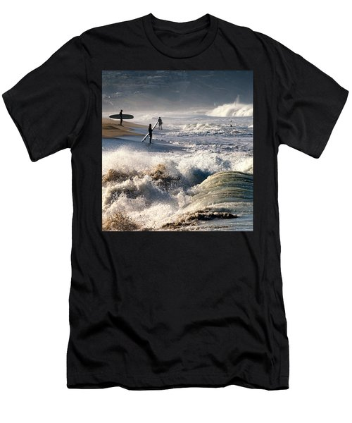Men's T-Shirt (Athletic Fit) featuring the photograph Waiting By Mike-hope by Michael Hope