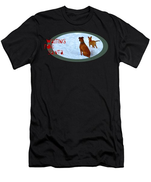Waiting For Santa Transparent Men's T-Shirt (Athletic Fit)