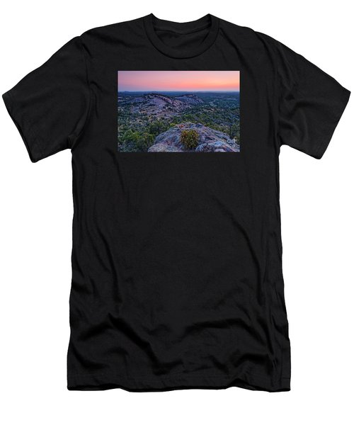 Waiting For Sunrise At Turkey Peak - Enchanted Rock Fredericksburg Texas Hill Country Men's T-Shirt (Athletic Fit)