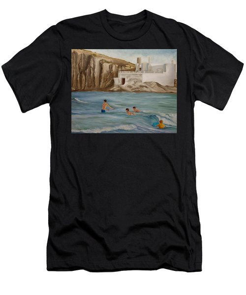 Waiting For The Waves Men's T-Shirt (Athletic Fit)
