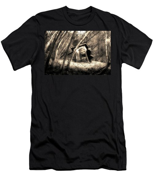 Men's T-Shirt (Slim Fit) featuring the photograph Waiting... by Gray  Artus