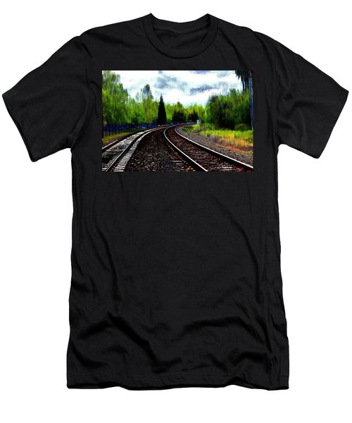 Men's T-Shirt (Slim Fit) featuring the mixed media Waiting On The Southern by Terence Morrissey