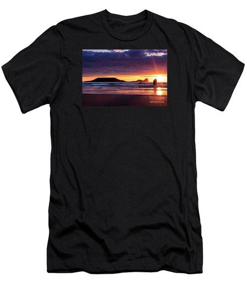 Wales Gower Coast Helvetia Men's T-Shirt (Athletic Fit)