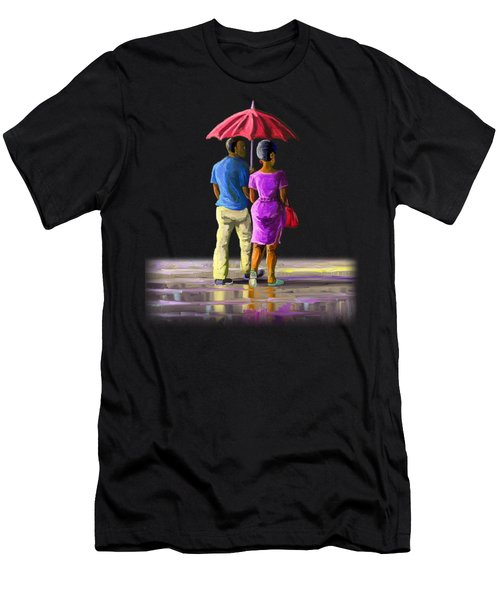 Walk In The Rain Men's T-Shirt (Athletic Fit)