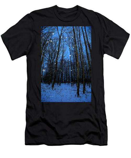 Walk In The Snowy Woods Men's T-Shirt (Athletic Fit)