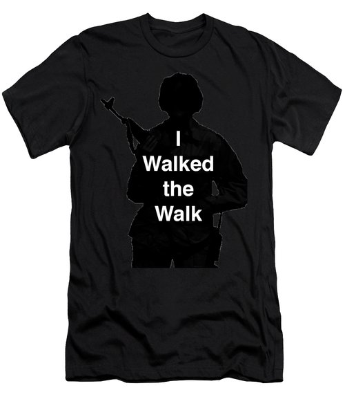 Walk The Walk Men's T-Shirt (Athletic Fit)