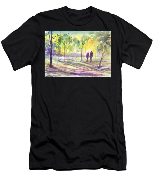 Walk Through The Woods Men's T-Shirt (Athletic Fit)