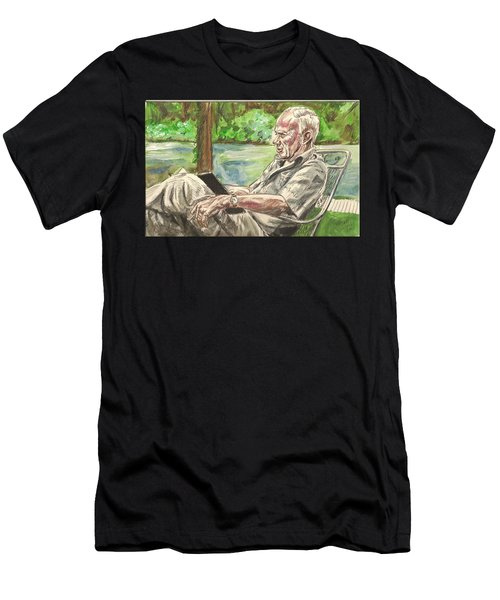 Walker Percy At The Lake Men's T-Shirt (Athletic Fit)