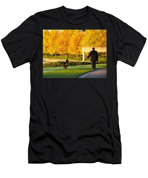 Walkies In Autumn Men's T-Shirt (Athletic Fit)