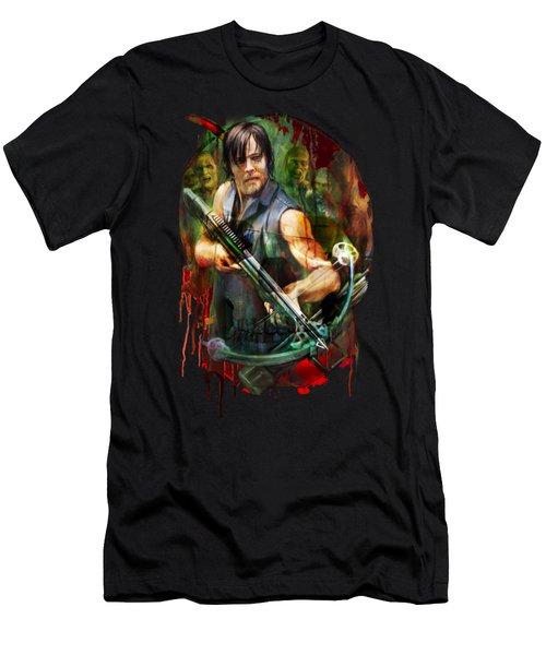 Walking Dead Mask Men's T-Shirt (Athletic Fit)