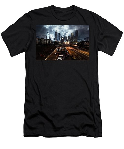 Walking Dead Tribute Downtown Atlanta Georgia  Men's T-Shirt (Athletic Fit)