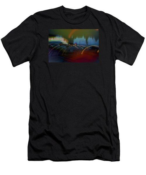 Walking In Carnival Lights Men's T-Shirt (Athletic Fit)
