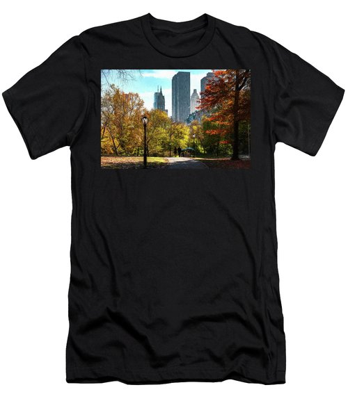 Walking In Central Park Men's T-Shirt (Athletic Fit)