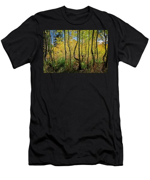 Men's T-Shirt (Athletic Fit) featuring the photograph Walking In The Woods by Scott Read