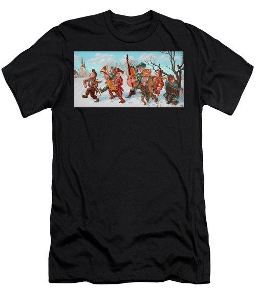 Walking Musicians Men's T-Shirt (Athletic Fit)