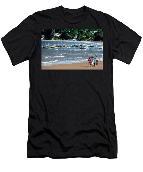 Walking On Ketembe Beach Men's T-Shirt (Athletic Fit)