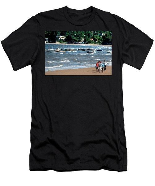 Walking On Ketembe Beach Men's T-Shirt (Athletic Fit)