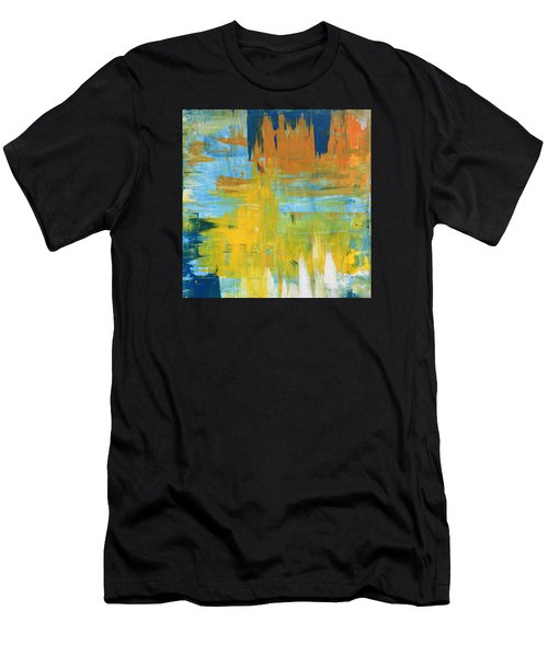 Walking On Sunshine - 48x48 Huge Original Painting Art Abstract Artist Men's T-Shirt (Athletic Fit)