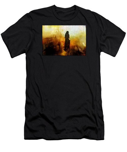 Walking Out From Chaos Men's T-Shirt (Athletic Fit)