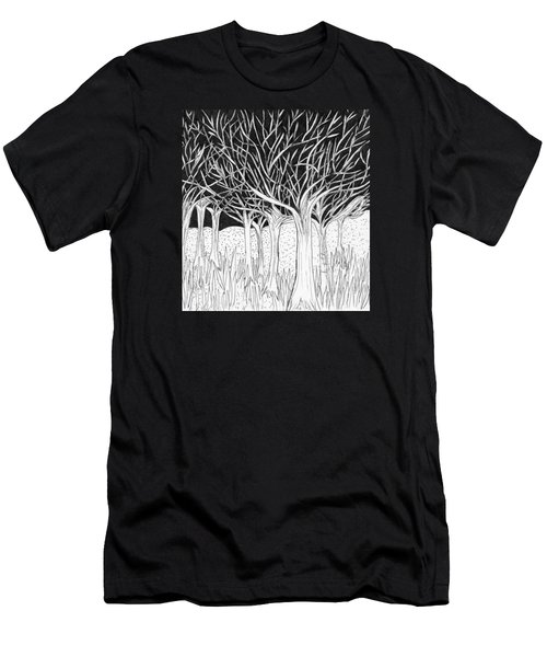 Walking Out Of The Woods Men's T-Shirt (Slim Fit) by Lou Belcher