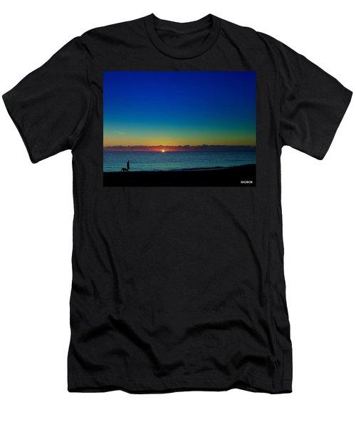 Walking The Baddog  Men's T-Shirt (Athletic Fit)
