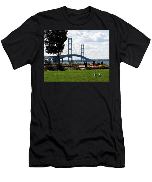 Walking To The Bridge Men's T-Shirt (Athletic Fit)